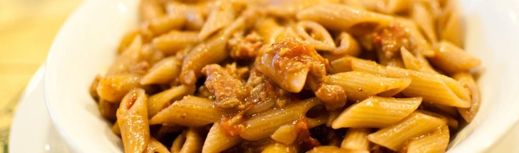 pennette al paté di olive rialbo