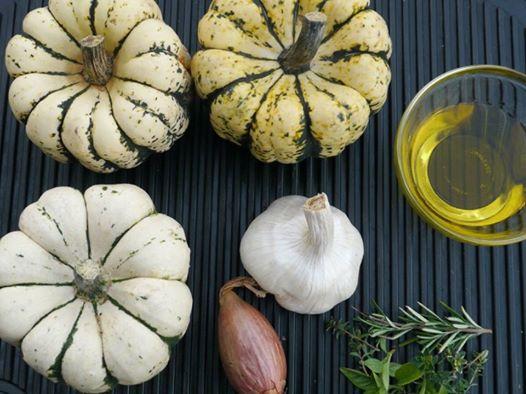 zucca e ingredienti per vellutata - rialbo
